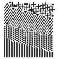 """Šablona 6""""x6"""" (15,2 x 15,2 cm), Shape Landscape"""