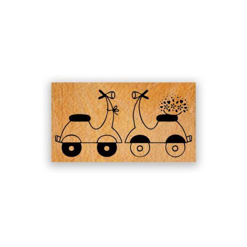Dřevěné razítko - Skútry 1