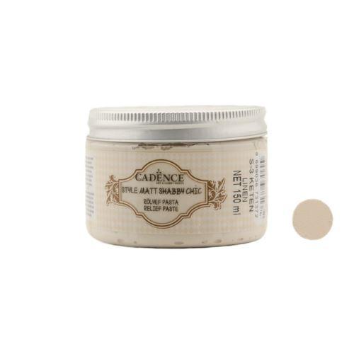 Reliefní pasta křídová, Shabby Chic, světlá krémová, linen, 150 ml