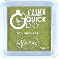 Razítkovací polštářek Izink Quick Dry, rychle schnoucí - olivová zelená