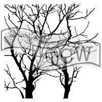 "Šablona 6""x6"" (15,2 x 15,2 cm), Branches Reversed"