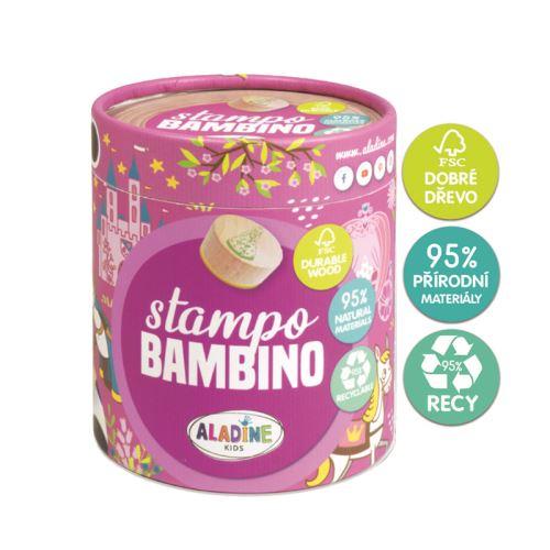 Dřevěná dětská razítka Stampo BAMBINO - Princezny 1