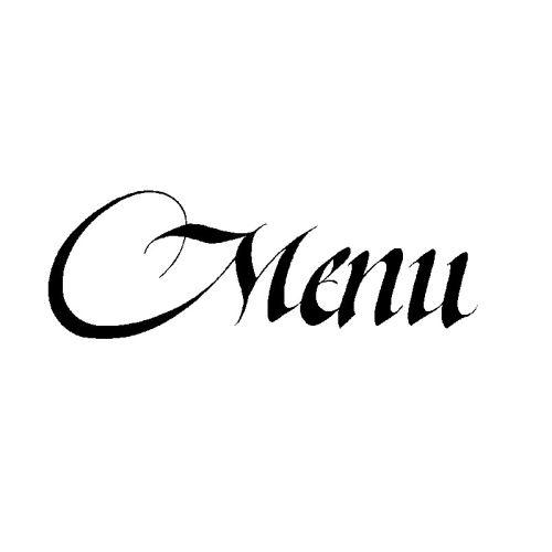 Dřevěné razítko, velikost C - menu