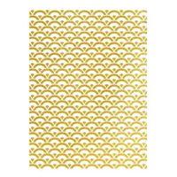 Rýžový papír A3 - metalické vlnky - zlaté