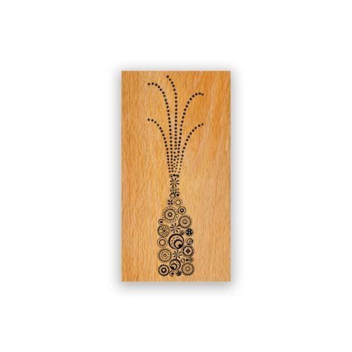 Dřevěné razítko - Šampaňské 1