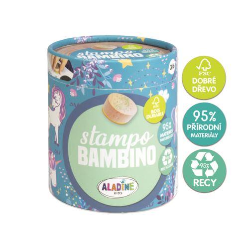 Dřevěná dětská razítka Stampo BAMBINO - Jednorožci 1