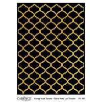 Transferový obrázek na textil - zlatá mříž
