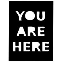 """Šablona 4""""x4"""" , You Are Here Fragments"""