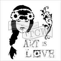 "Šablona 12""x12"" (30,5 x 30,5 cm), Art is love"