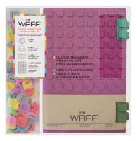 Kreativní deník WAFF, velikost A5, glitter fuchsia