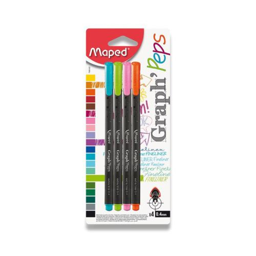 Liner Maped Graph´Peps - sada 4 pastelových barev