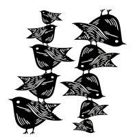 Šablona Cadence stínová - ptáčci