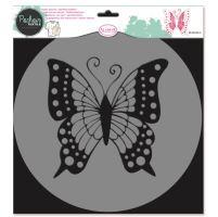 Aladine šablona, 28x28cm - motýl