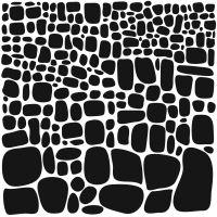 "Šablona 6""x6"" (15,2 x 15,2 cm), Stone Increase"
