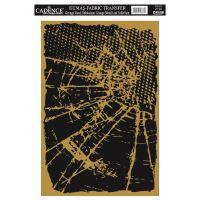 Zlatá nažehlovací nálepka, 21x30 cm, prasklé sklo