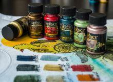 Metalická barva na textil, Dora Texile, 50 ml
