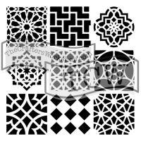 """Šablona 6""""x6"""" (15,2 x 15,2 cm), Moroccan"""