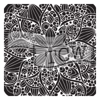 "Šablona 12""x12"" (30,5 x 30,5 cm), Doodle bloom"