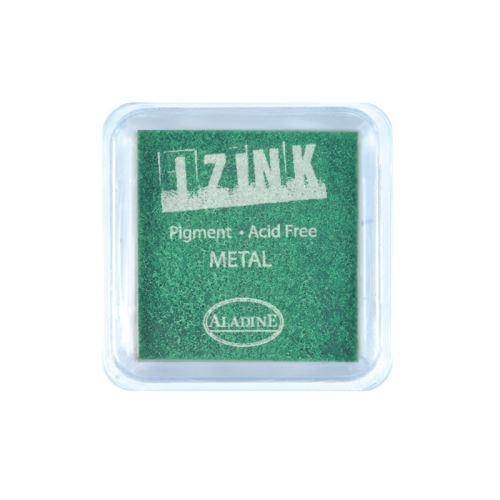 Aladine razítkovací polštářek IZINK - metal light green, metalická světle zelená