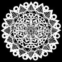"Šablona 12""x12"" (30,5 x 30,5 cm), Striped Mandala"