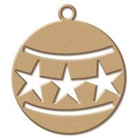 Dřevěný výřez - Ozdoba s hvězdičkou