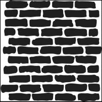 "Šablona 6""x6"" -  velká zeď, Bricks, mini"