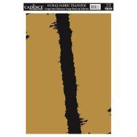 Zlatá nažehlovací nálepka, 21x30 cm, zlatá čára
