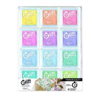 Razítkovací polštářky Izink Quick Dry, sada 12 ks -  pastelové barvy