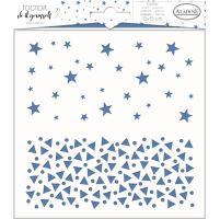 Aladine šablona, 15x15 cm - hvězdy s trojúhelníky