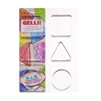 Gelli plate, kruh, čtverec, trojuhelník