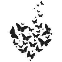 Dřevěné razítko, velikost G - motýlí let za láskou