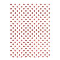 Rýžový papír A3 - metalické puntíky - růžové zlato