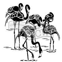 """Šablona 12""""x12"""" (30,5 x 30,5 cm), Flamingos"""