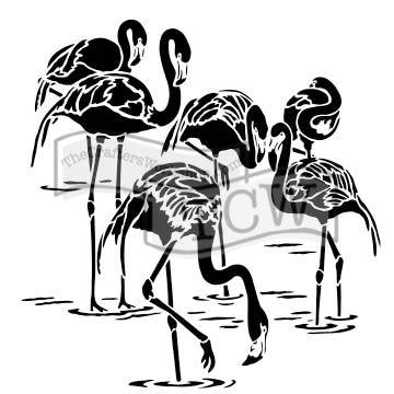 Šablona TCW -  Flamingos