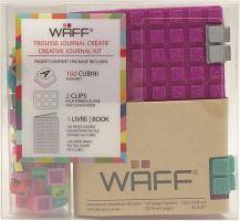 Kreativní deník WAFF, velikost A7, glitter fuchsia