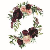 Nažehlovací nálepka, 25 x 35 cm - květinové zrcátko