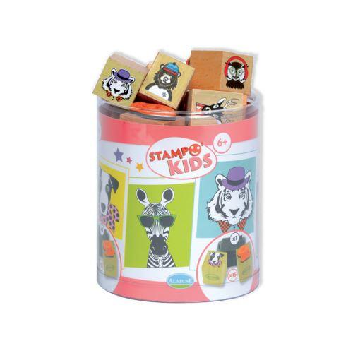 Dětská dřevěná razítka Stampo KIDS - Cirkusová párty 1