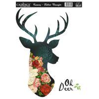 Nažehlovací nálepka, 25x35cm - květinový jelen