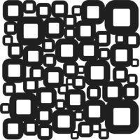 Šablona TCW - kostičky, Retro Squares
