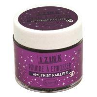 Embosovací prášek, 25 ml - amethyst, fialová třpytivá