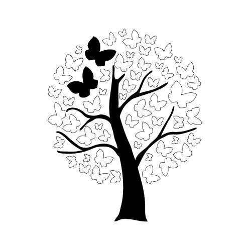 Dřevěné razítko, velikost F - motýlí strom