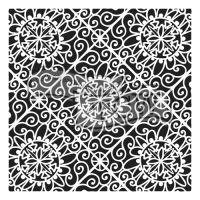 "Šablona 12""x12"" (30,5 x 30,5 cm), Lacy Tiles"