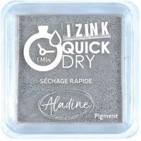 Razítkovací polštářek Izink Quick Dry, rychle schnoucí - stříbrná