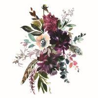 Nažehlovací nálepka, květiny 1 - 25 x 35 cm