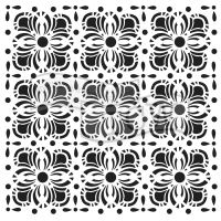 """Šablona TCW 12""""x12"""" (30,5 x 30,5cm), Flower Tiles"""