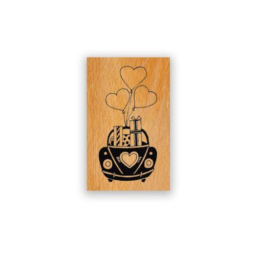 Dřevěné razítko - Svatební dárky jedou 1