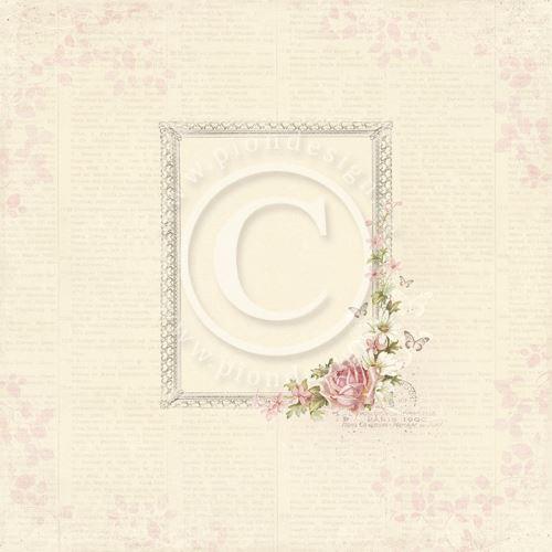 """Scrapbookový papír,12x12 """", Květinové rámečky"""
