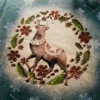 24. Vánoční polštář s jelenem