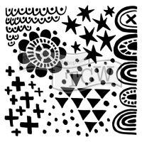 "Šablona 12""x12"" (30,5 x 30,5 cm), Positivity"