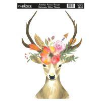 Nažehlovací nálepka,25x35 cm, akvarelová - jelen